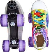 Powerlife Funky LED Outsole Quad Wheels Canvas Roller Skates